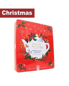 English Tea Shop - Premium Holiday Collection Red Gift Tin -72 Tea Bag Sachets - 6 x 108g