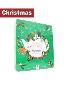 English Tea Shop - Premium Holiday Collection Green Gift Tin-72 Tea Bag Sachets - 6 x 108g