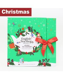 English Tea Shop - Book Style Advent Calendar (Green) - 6 x 50g