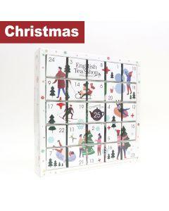 English Tea Shop - White Ornaments Advent Calendar - 6 x 50g
