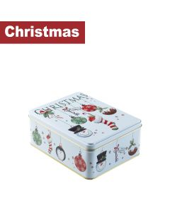 Farmhouse Biscuits Ltd - Bauble Stocking Rectangle Tin - 12 x 400g