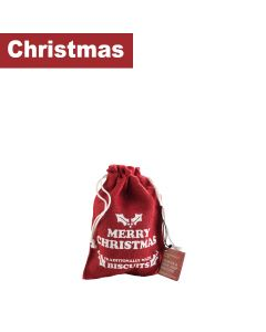 Farmhouse Biscuits Ltd - Red Hessian Bag (Merry Christmas) - 18 x 125g
