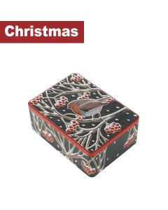 Farmhouse Biscuits Ltd - Christmas Robin Rectangle Tin - 12 x 400g