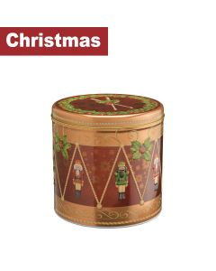 Farmhouse Biscuits Ltd - Christmas Nutcracker Drum Tin  - 6 x 450g