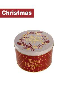 Farmhouse Biscuits Ltd - Merry Christmas Round Tin      - 9 x 375g