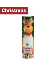 Farmhouse Biscuits Ltd - Giant Reindeer Tube - 12 x 200g