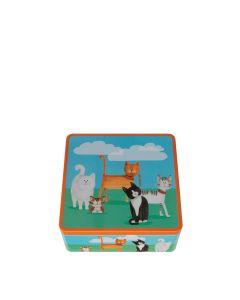 Farmhouse Biscuits - Feline Friends Tin 175g Mini Toffee Bites - 6x175g