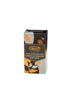 Farmhouse Biscuits - Half Milk Choc Coated Lemon & Orange Biscuits - 12 x 150g
