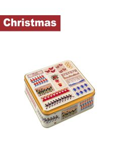 Farmhouse Biscuits Ltd - 12 Days Of Christmas Square Tin - 8 x 400g