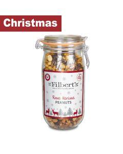 Mr Filbert's - Christmas Kilner - Rose Harissa Peanuts - 9 x 800g
