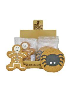 Original Biscuit Bakers - Iced Gingerbread Spider & Skeleton - 12 x  40/35g