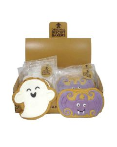 Original Biscuit Bakers - Iced Gingerbread Bat & Ghost - 12 x 50/45g