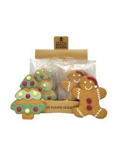 Original Biscuit Bakers - Iced Gingerbread Christmas Tree & Santa Man - 20 x 25/40g