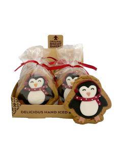 Original Biscuit Bakers - Iced Gingerbread Penguin - 12 x 90g