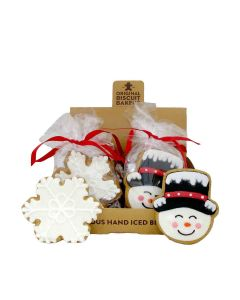 Original Biscuit Bakers - Iced Gingerbread Snowflake and Snowman  - 12 x 60g