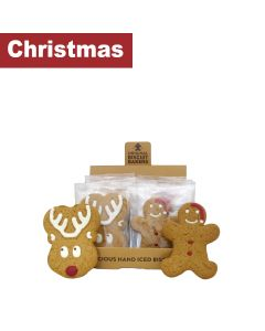 Original Biscuit Bakers - Iced Gingerbread Santa Man & Reindeer - 20 x 35g/50g