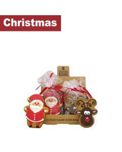 Original Biscuit Bakers - Iced Gingerbread Santa & Deluxe Reindeer - 12 x 55g/35g