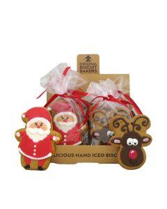 Original Biscuit Bakers - Iced Gingerbread Deluxe Reindeer & Santa - 12 x 50/75g