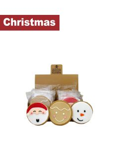 Original Biscuit Bakers - Iced Gingerbread Festive Friends - 12 x 60g
