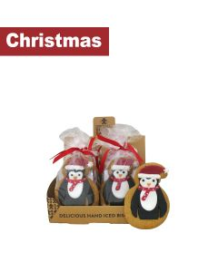 Original Biscuit Bakers - Iced Gingerbread Penguin - 12 x 80g