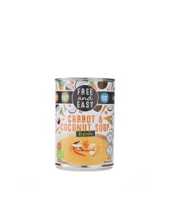 Free & Easy - Organic Carrot & Coconut Soup - 6 x 400g