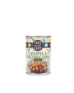 Free & Easy - Organic Chickpea & Vegetable Curry - 6 x 400g
