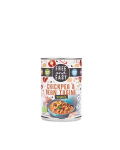 Free & Easy - Organic Chickpea & Bean Tagine - 6 x 400g