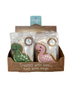 Original Biscuit Bakers - Assorted Gingerbread Dinosaurs - 19 x 30g