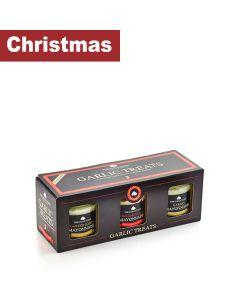 The Garlic Farm  - Garlic Treats - 3 Jar Mayo Giftset - 6 x 285g (95 x 3)