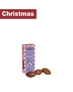 Mr Stanleys - Milk chocolate Rugby Balls  - 12 x 75g