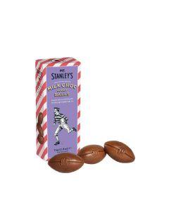 Mr Stanley's - Milk Chocolate Rugby Balls - 12 x 75g