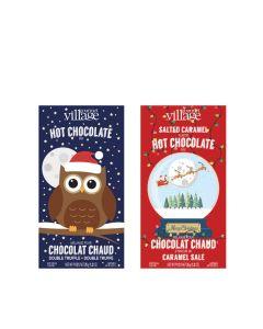 Gourmet du Village - Mixed Case: Owl and Snowglobe Hot Chocolate  - 24 x 35g