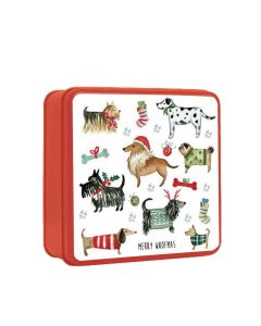 Grandma Wilds Biscuits - Embossed Christmas Dogs Party Tin - 9 x 200g