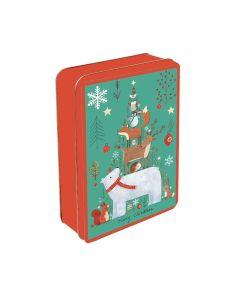 Grandma Wilds Biscuits - Embossed Polar Bear & Woodland Friends Tin - 6 x 300g