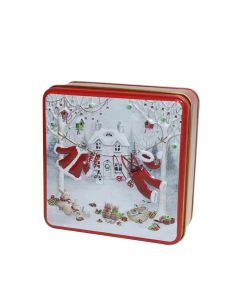 Grandma Wilds Biscuits - Embossed Santa's Washing Line Tin With Clotted Shortbread Bites - 12 x 100g
