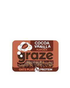 Graze - Cocoa and Vanilla Protein Flapjack - 9 x 53g