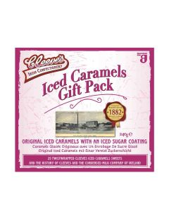 Hadji Bey's - Cleeves - Gift Pack of 25 Iced Caramels Sweets - 9 x 240g