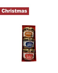 Jean Brunet - Christmas Set: Duck Paté with Armagnac, Chicken Liver Confit with Armagnac, Wild Boar Paté - 16 x 540g