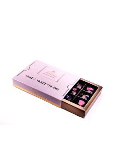 Lick the Spoon - Rose and Violet Creams 12 Chocolate Box - 6 x 150g