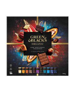 Green & Blacks - 25 Dark, Milk & White Chocolate Miniature Bars - The Taste Collection - 6 x 395g