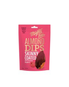 Mighty Fine - Dark Choc & Raspberry Coated Almonds - 12 x 75g