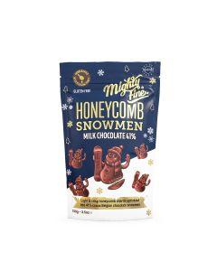 Mighty Fine - Milk chocolate Honeycomb Snowman - 12 x 100g