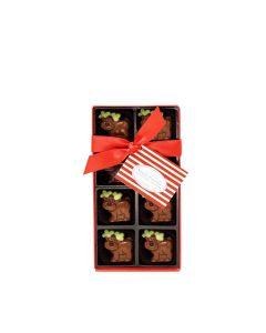 Natalie Chocolates - 8 Milk Chocolate Reindeers - 9 x 100g