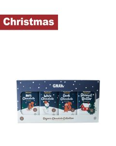 Gnaw Chocolate  - Gnaw Organic Chocolate Collection (4 bar) 100% Compostable Packaging - 6 x 400g