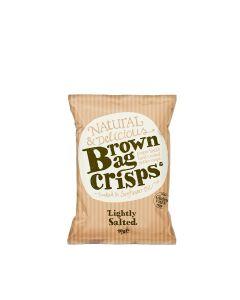 Brown Bag Crisps - Lightly Salted Crisps - 20 x 40g