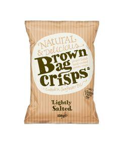Brown Bag Crisps - Lightly Salted Crisps - 10 x 150g