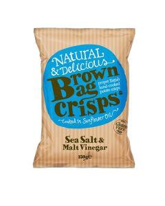 Brown Bag Crisps - Sea Salt & Malt Vinegar Crisps - 10 x 150g