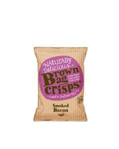 Brown Bag Crisps - Smoked Bacon Crisps - 20 x 40g