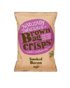 Brown Bag Crisps - Smoked Bacon Crisps - 10 x 150g