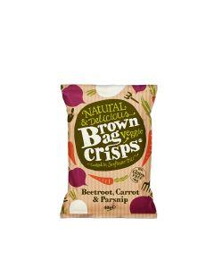 Brown Bag Crisps - Beetroot, Carrot & Parsnip Veggie Crisps - 15 x 40g